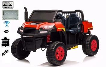 Dětské el . Farmářské  autíčko s 2,4G dálkovým ovladačem  červené