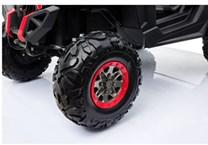Dvoumístná dětská buggy s 2,4G  dálkovám ovladačem 4x4 , červený  polymerový potah spider