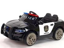 Policejní elektrické autíčko s májákem, sirénou a megafonem