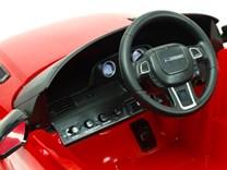 Dětské el. autíčko Licenční Range Rover EVOQUE červená palubní deska