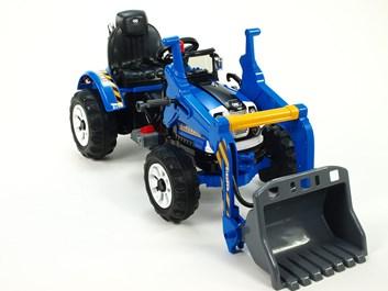 Dětský elektrický traktůrek Kingdom se lžící - JS328A.blue