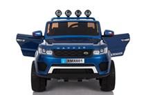 Dětský dvoumístný elektrický policejní vůz Rover s 2,4G DO  , lakovaný modrý