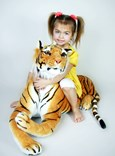 Plyšový tygr střední