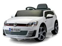 Dětské elektrické autíčko licenční VW Golf GTI - bílá