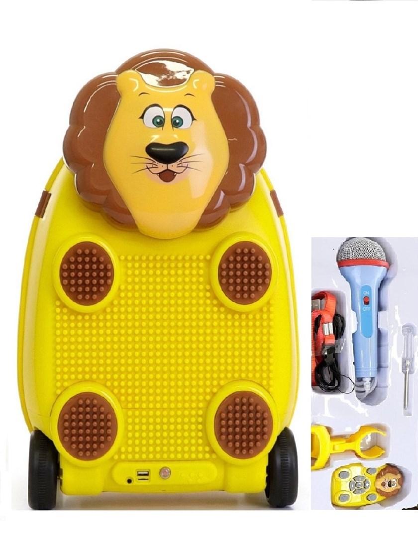 Dětský cestovní kufr LEV    s dálkovým ovladačem , mikrofonem a  stavebnicí