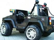 Dětské autíčko pro 2 děti s FM radiem, 2 motory černá