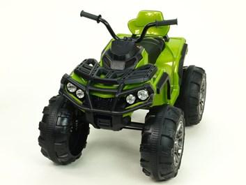 Dětská elektrická čtyřkolka Predátor  LUX zelená
