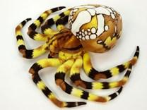 Plyšový pavouk žlutý