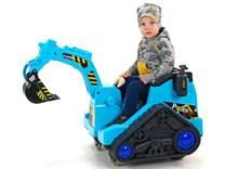 Dětský elektrický bagr  modrý- FL858O