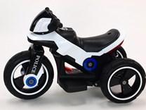 Dětská elektrická motorka VELKÁ 101cm s měkkými EVA koly,  SW198EVA.white