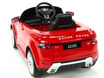 Dětské el. autíčko Licenční Range Rover EVOQUE červená zadní pohled