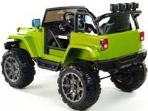 Dětské elektrické autíčko džíp Wrangler LUX s 2,4G DO zelená
