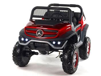Dětský elektrický džíp Mercedes Benz Unimog, dvoumístný červený
