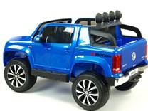 Dětské el. autíčko Volkswagen Amarok 4x4 náhon všech kol, 2,4G DO  modrá lakovaný