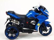 Motorka - Tricykl Dragon s osvětlenými koly,motory 2x6V,pérováním nápravy,digiplayer USB,Mp3,voltmetr,LED osvětlení R12006.blue