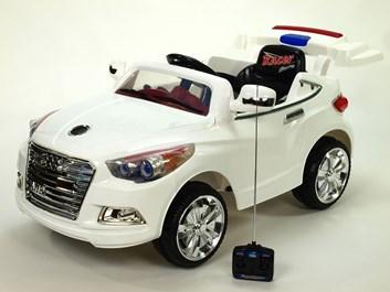 Dětské elektrické auto rallye  bílá