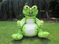 Plyšové dětské křesílko žába