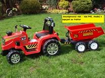 Dětský elektrický traktor 12V s 2,4G dálkovým ovládáním, mohutnými koly -ZP1007RC.blue