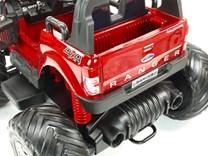 Dětské elektrické autíčko  džíp Ford Ranger Monster Truck 4x4 červená metalíza