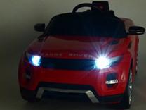 Dětské el. autíčko Licenční Range Rover EVOQUE červená osvětlení