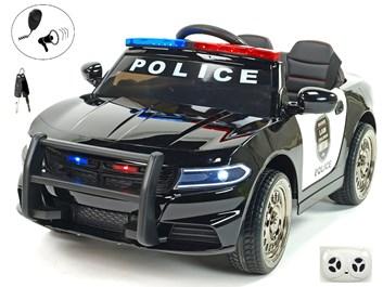 Policejní elektrické autíčko s májákem, sirénou, megafonem a 2,4G DO