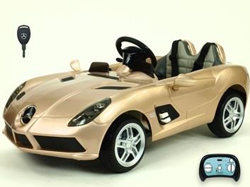 Dětské el. autíčko Mercedes-Benz SLR Mc Laren Stirling Moss s 2.4G bluetooth DO  zlatá