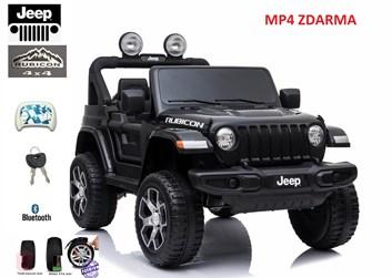 Dětský elektrický licenční Jeep Rubicon 4x4 , lakovaný černou barvou
