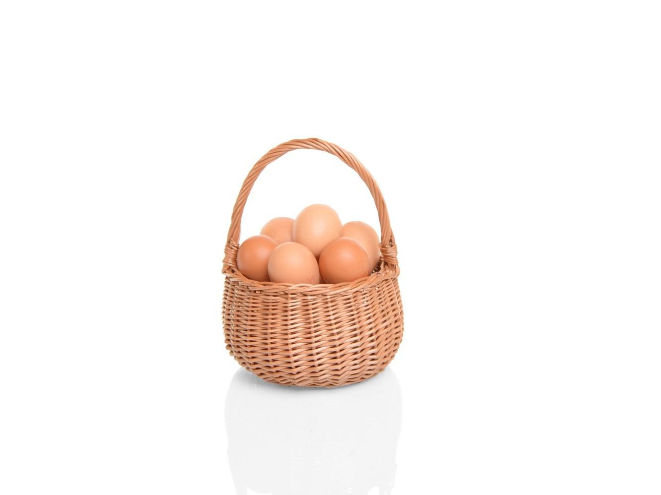 Proutěný košík na houby