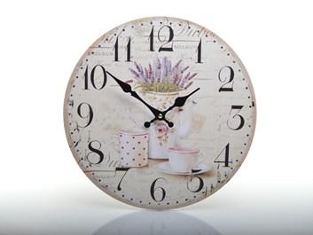 Retro hodiny levandule z Provence