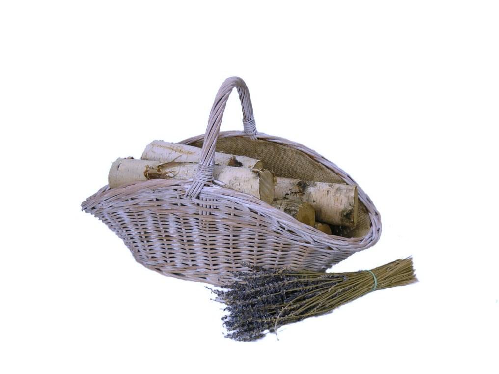 Krbový koš provence bílý talíř