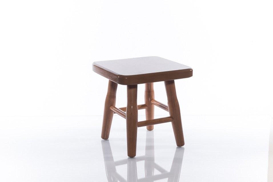 Dřevěná stolička čtvercová, malá