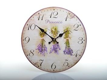 Nástěnné hodiny svazky levandule PROVENCE
