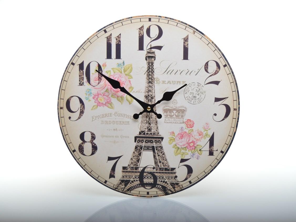 Nástěnné retro hodiny PARIS HLC18071