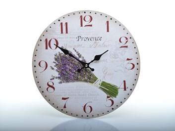 Nástěnné hodiny se svazkem levandule