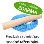Dřevěné dětské sáňky s modrým průpletem (se zvýšenou nosností)