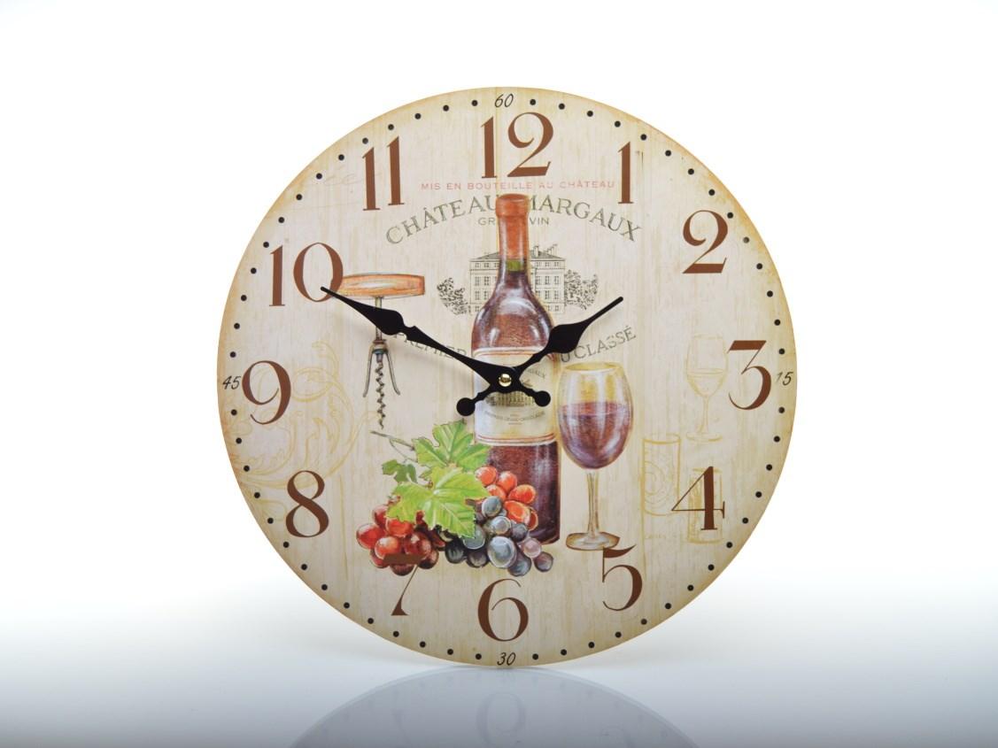 Nástěnné hodiny s vínem CHÂTEAU MARGAUX HLC14350