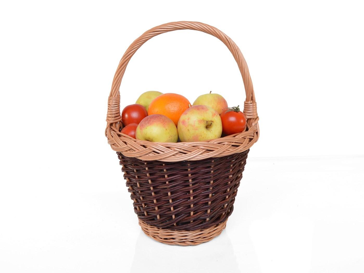 Proutěný košík na ovoce