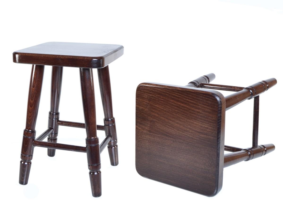 Stolička čtvercová ořech