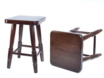 Dřevěná stolička čtvercová ořech