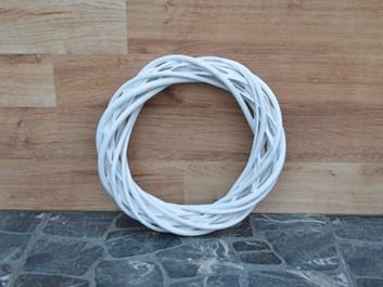 Proutěný věnec bílý - průměr 20 cm