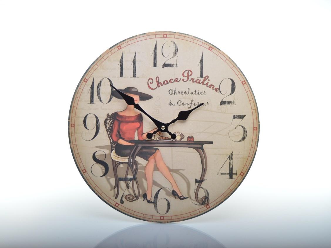 Nástěnné hodiny do kuchyně CHOCE PRALINE HLC108017