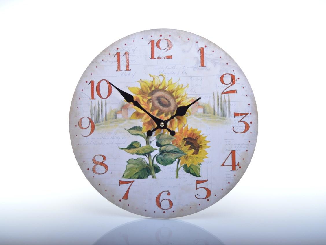 Nástěnné hodiny se slunečnicí HLC1817