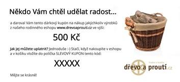 Dárkový poukaz v hodnotě 500 Kč (tištěný)