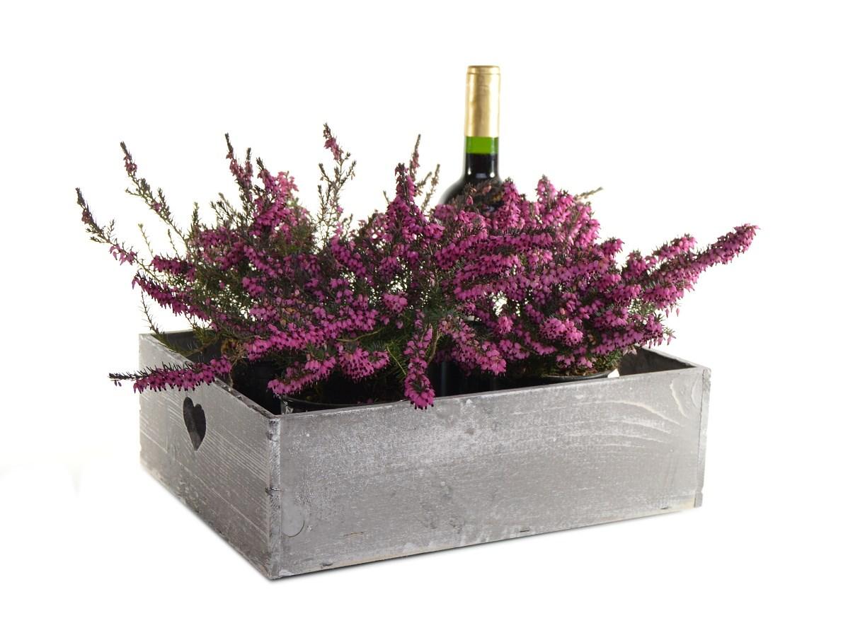 Dřevěný podnos na květiny