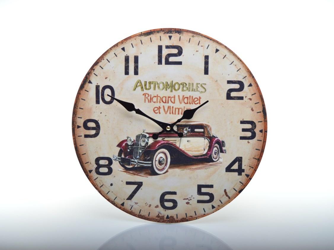 Nástěnné hodiny s autem HLC16001