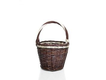 Proutěný košík kulatý