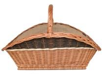 Krbový koš na dřevo Pavel, obšitý jutou -velký (xko s jutou a pruhem)