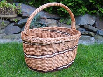 Proutěný nákupní košík Alenka