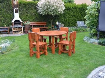 Zahradní sedací souprava Pinie - kulatý stůl