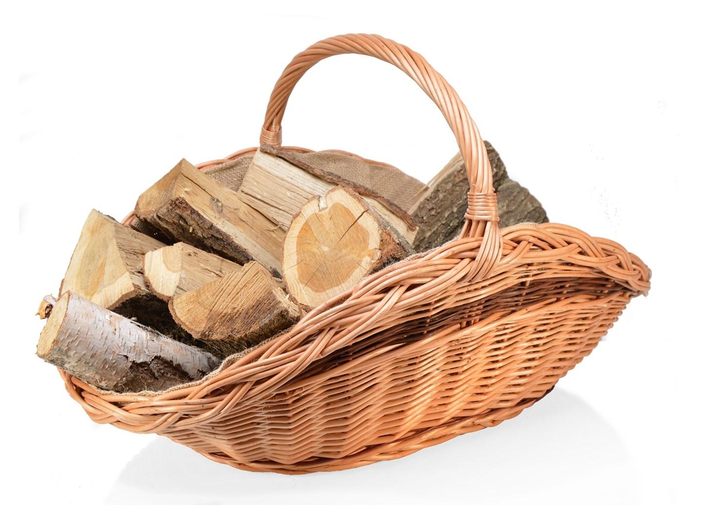 Proutěný koš na dřevo - TALÍŘ
